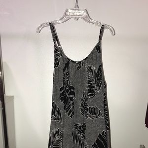 Volcom black and white dotted and floral dress